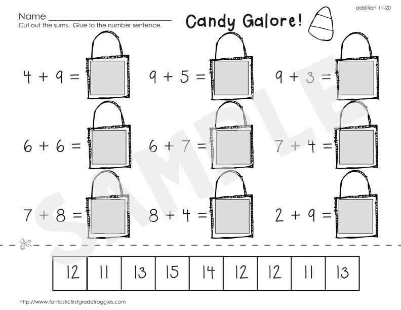 no prep Halloween math practice
