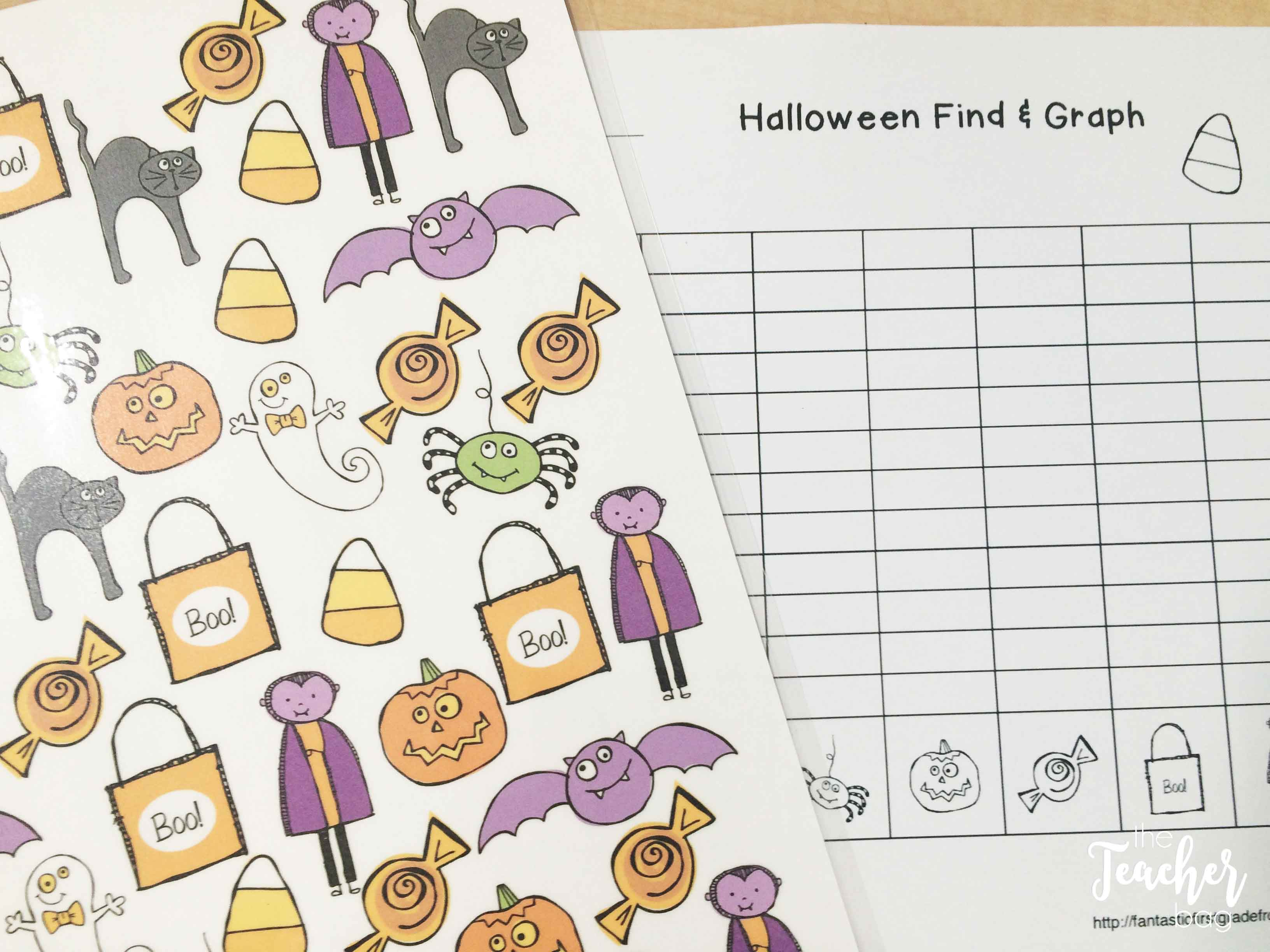Halloween math- find, tally and graph
