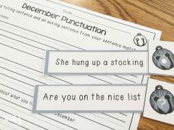 Christmas Literacy Centers- punctuation sort