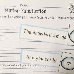 winter punctuation sort