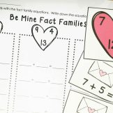 Valentine's Day Math- fact families