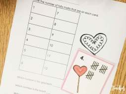 Valentine's Day Math- tally practice