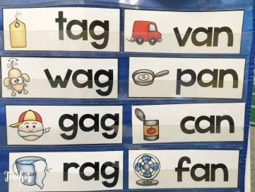 word family pocket chart words