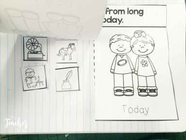 Do you teach long ago and today? Here is a great sort and interactive notebook freebie.