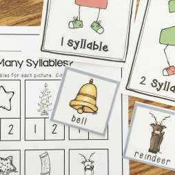 Christmas centers- syllable sort
