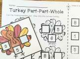 Thanksgiving math centers- part, part, whole
