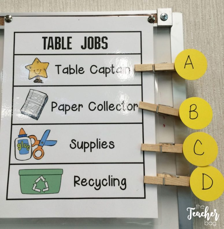 table jobs rotation poster