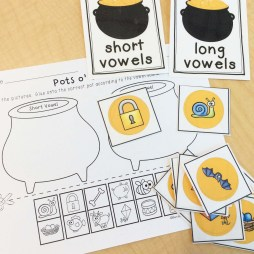 St. Patrick's Day long and short vowel sort