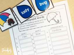 Spring compound words sort
