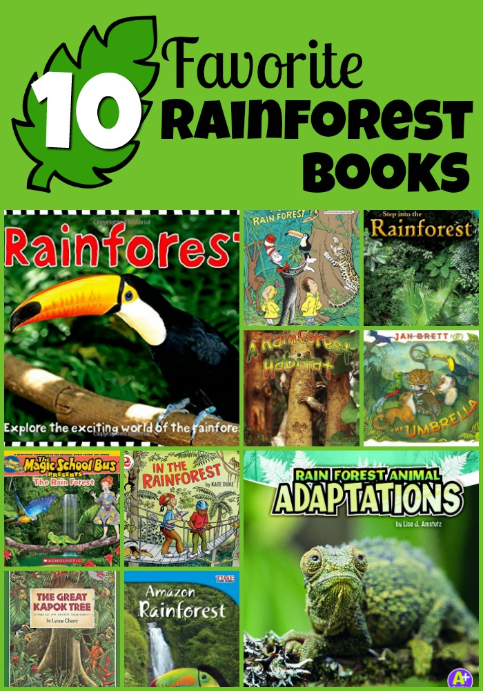 rainforest books Collage