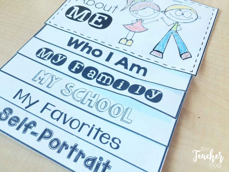 Here is an idea for an all about me book. It can be used as a stand alone book, or in an interactive notebook.