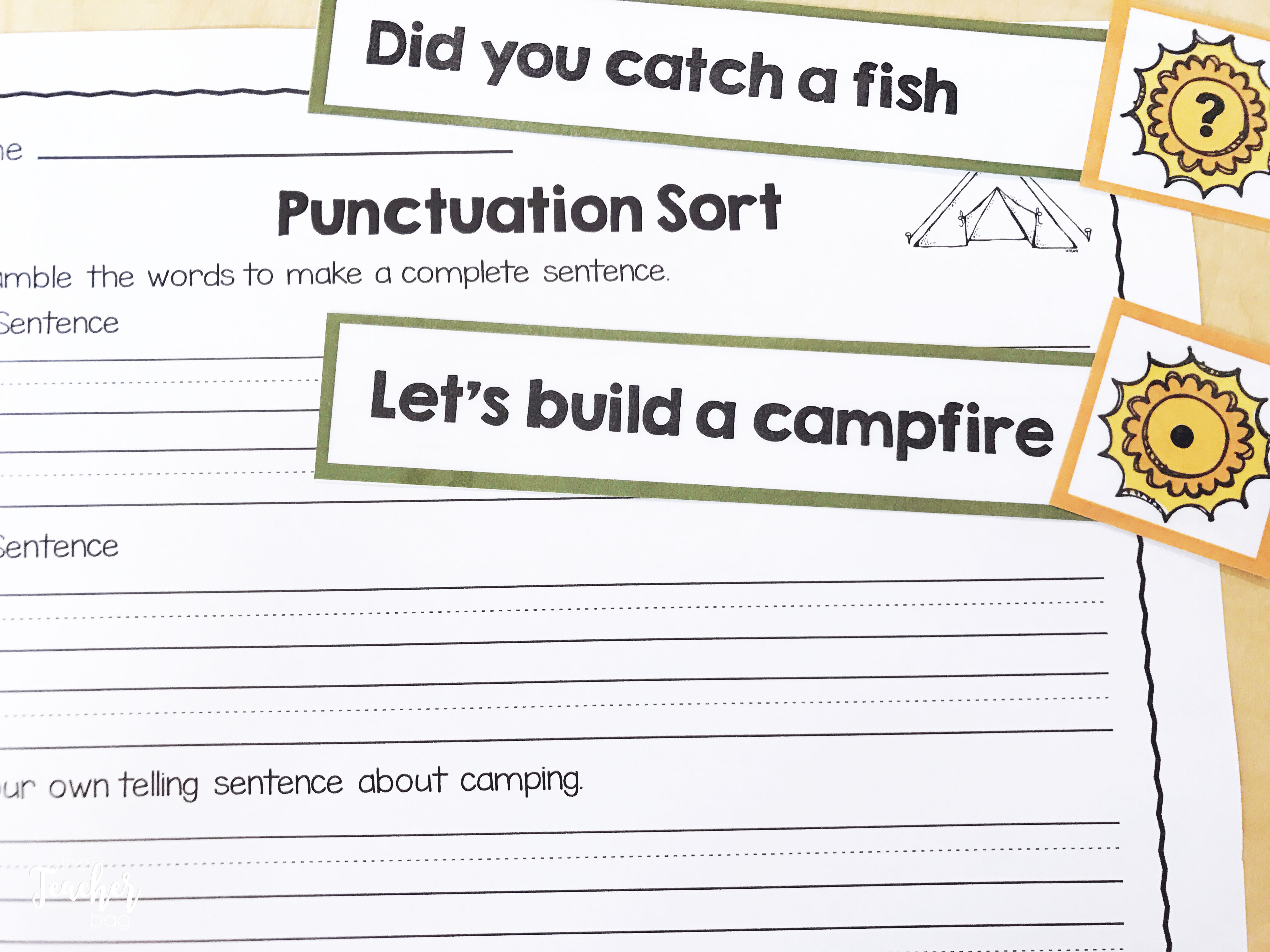 camping punctuation sort