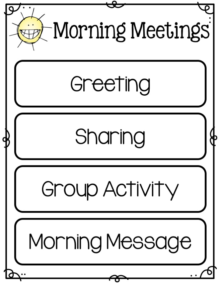 morning meetings schedule