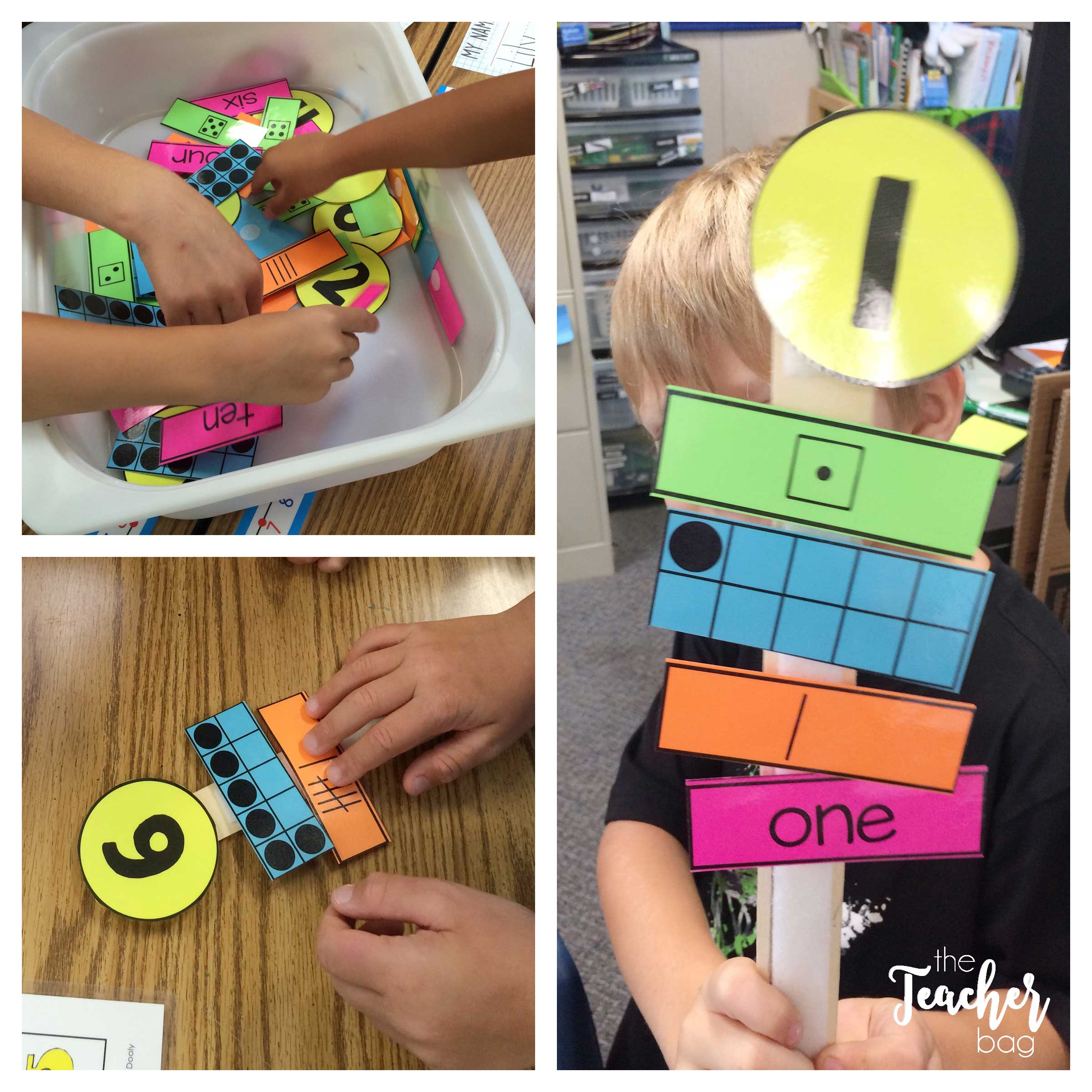 Hands-on learning with number paint sticks.