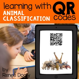 animal classification videos attached to QR codes