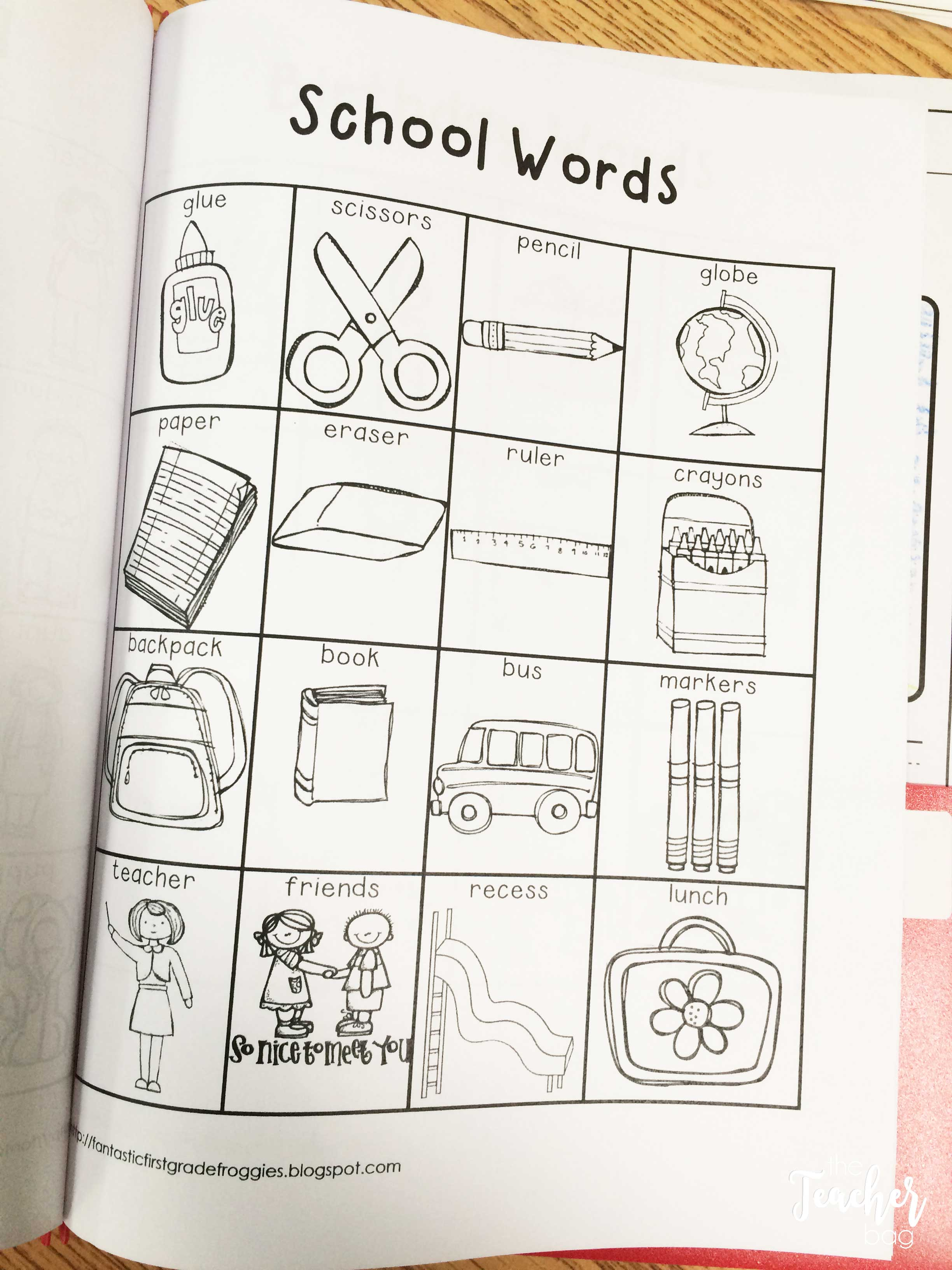 Place word lists in your students writing folders to help with common words and inspiration.