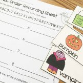 Halloween Centers- ABC order