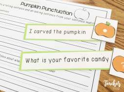 Halloween Centers- punctuation sort