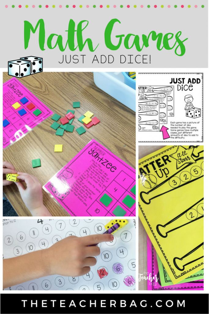 fun math games that all you need to do is add dice.
