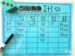 roll your sight words