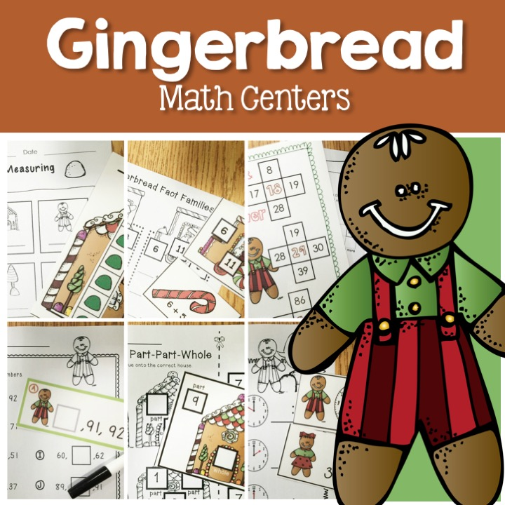 Gingerbread Math Centers