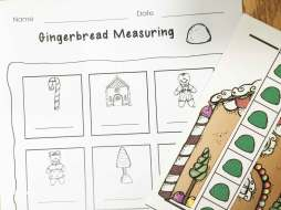 gingerbread math- nonstandard measuring