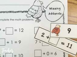 American Symbols math- missing addends