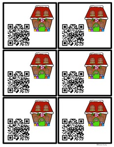 QR codes gingerbread houses