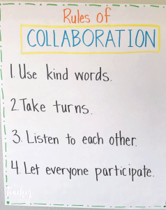 rules of collaboration anchor chart