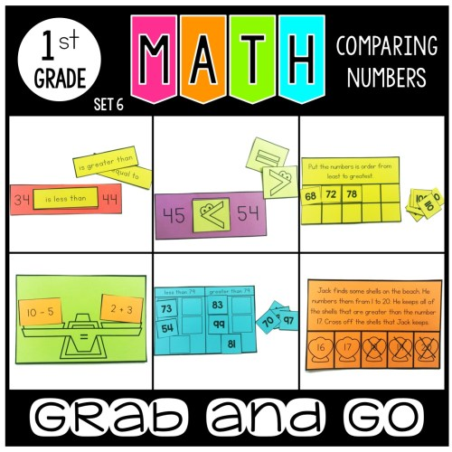 Grab and Go Math Comparing Numbers