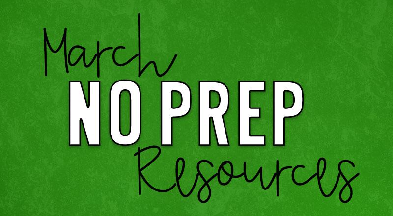 march-no-prep-resources-cover