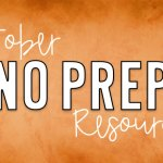 October NO PREP Printables for the Classroom