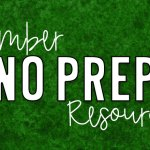 December NO PREP Resources