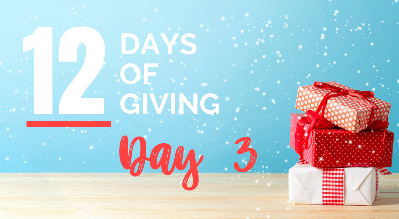12 days of giving day 3