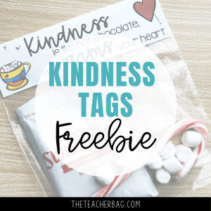 hot chocolate kindness tags
