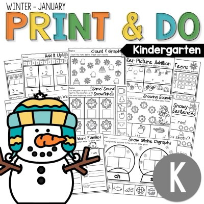 collage of print and do worksheets