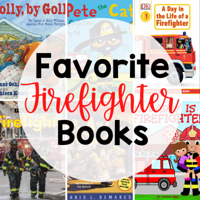 collage of firefighter book covers