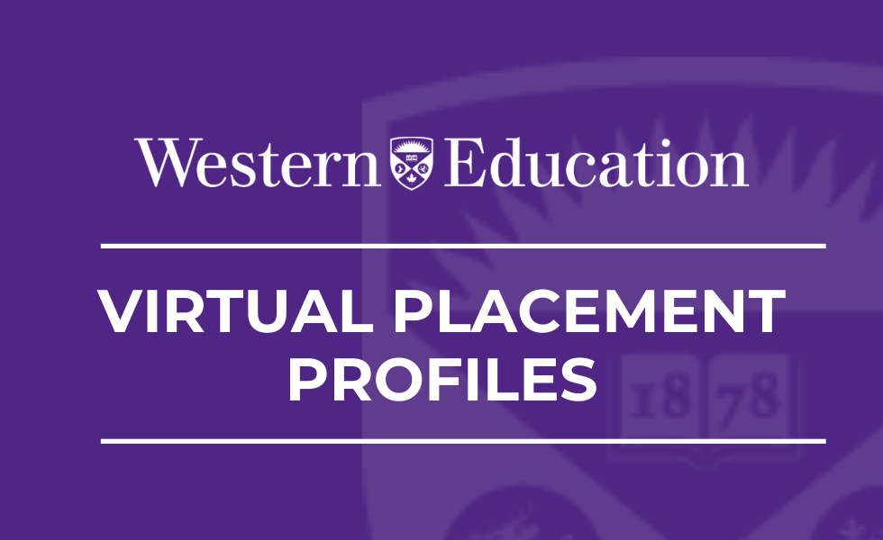 Western Education Virtual Placement Profiles header image