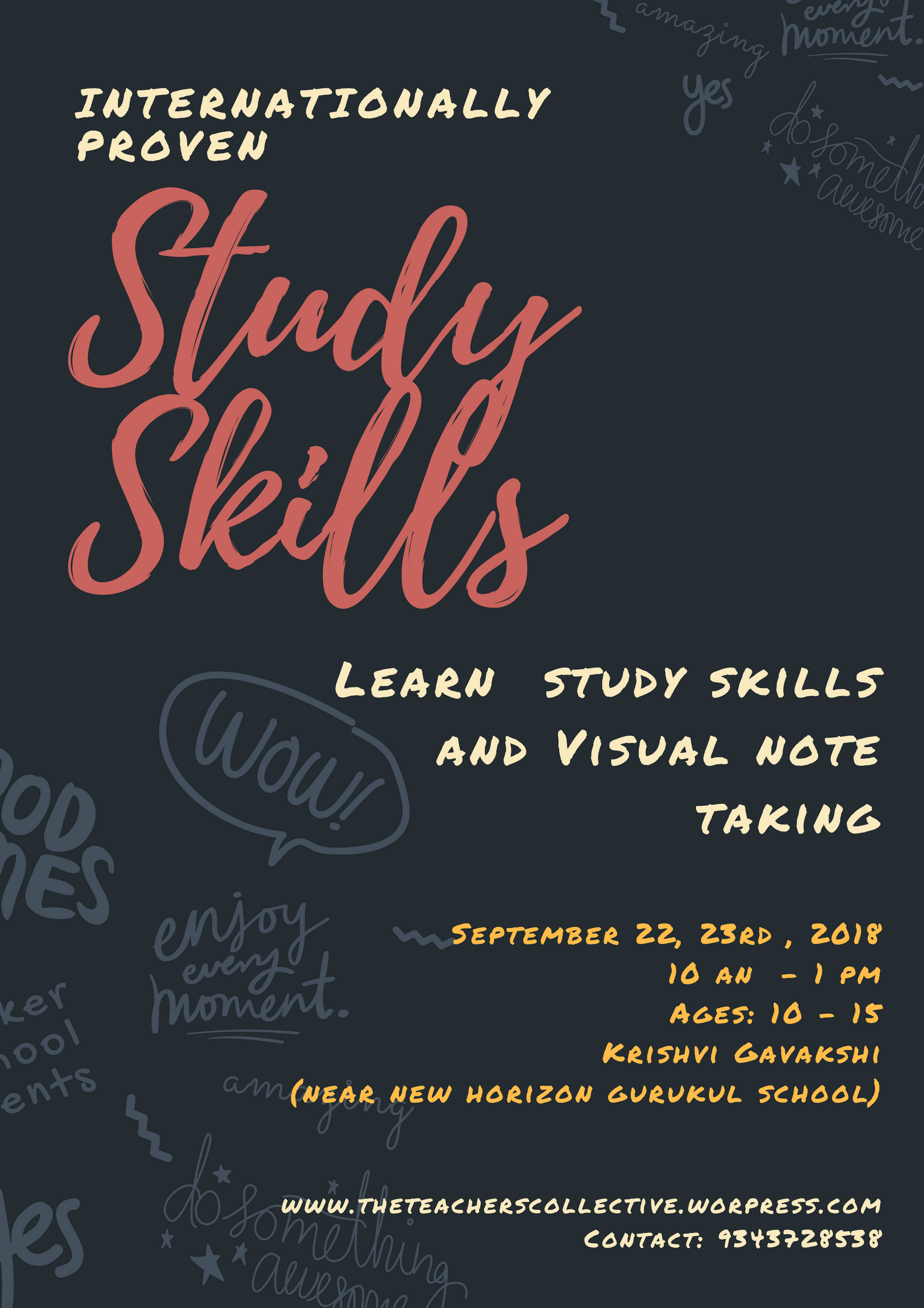 Study Skills And Visual Note Making Workshop The
