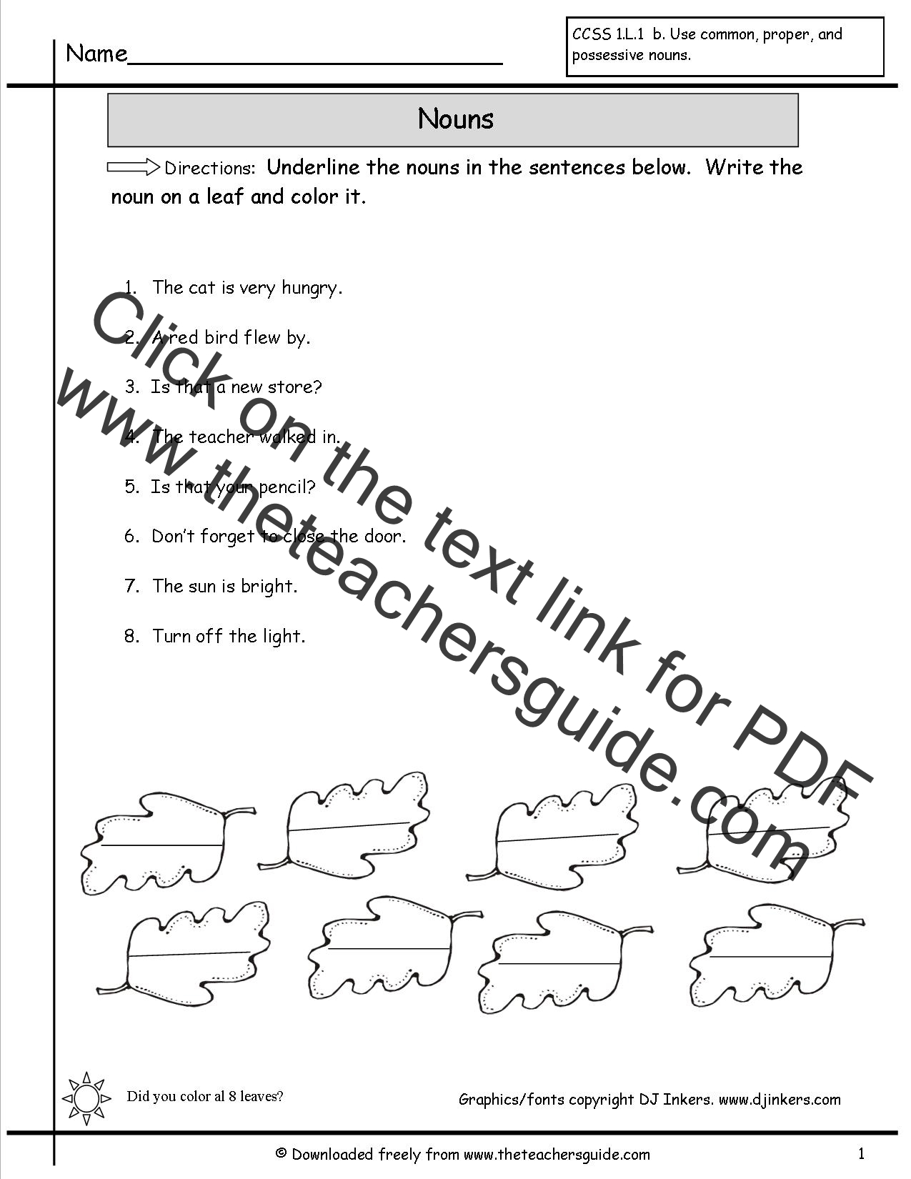 Worksheet Noun Worksheets For Kindergarten Grass Fedjp
