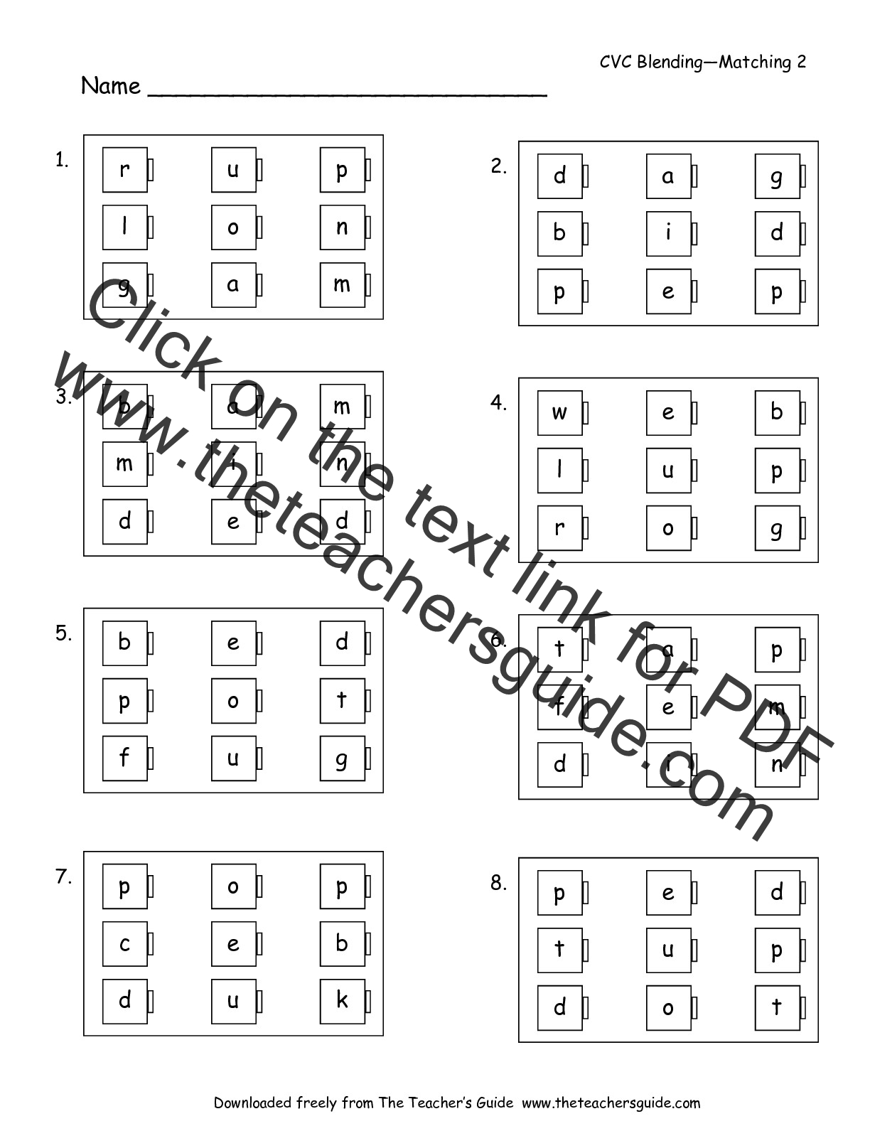 Free Phonics Printouts From The Teacher S Guide