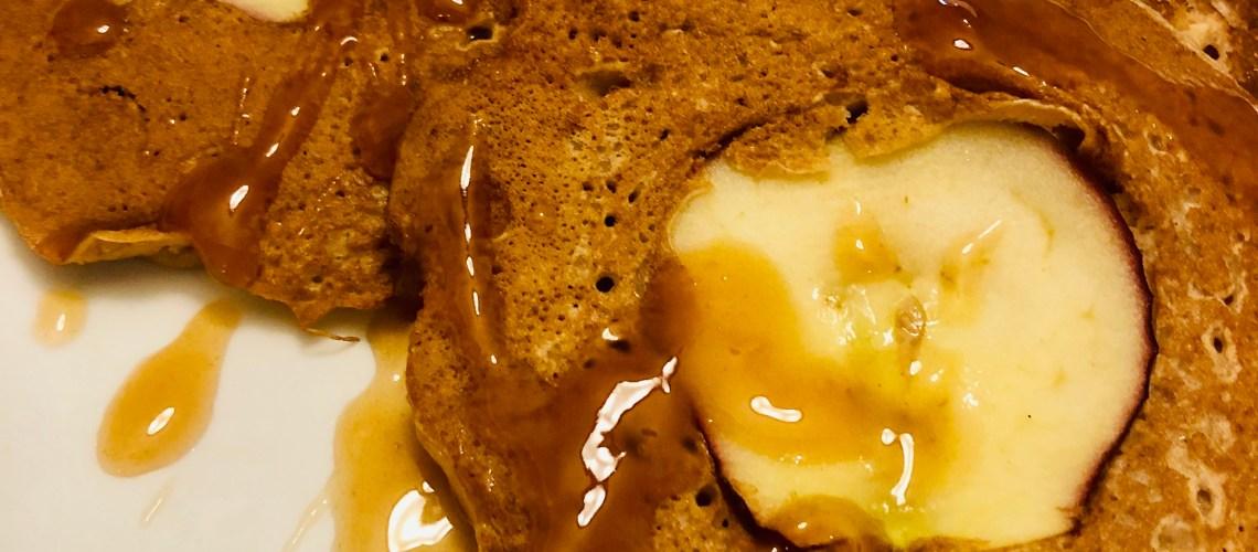 Apple Cinnamon Pancakes with Cinnamon Syrup