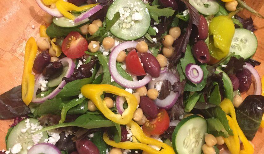 Greek Salad with Mediterranean Vinaigrette