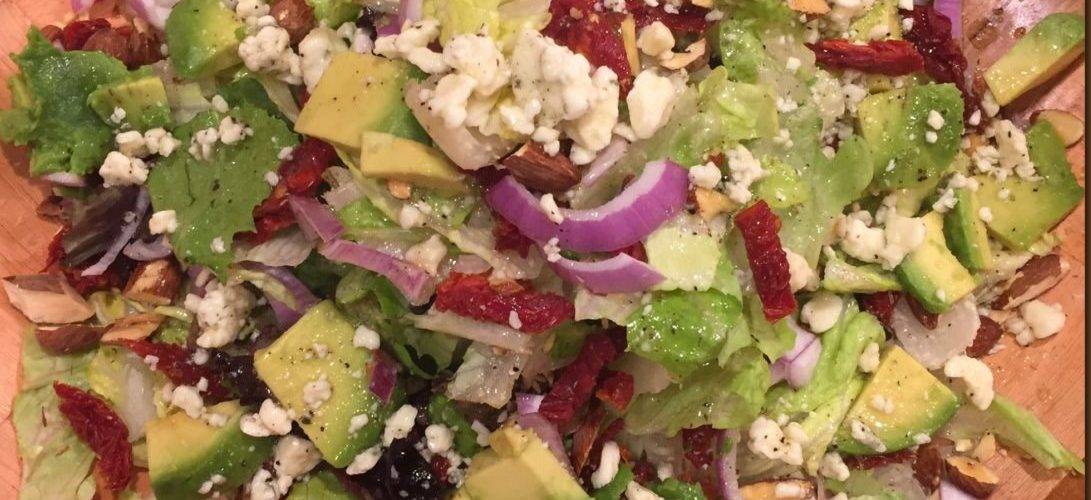 Sun-dried Tomato and Avocado Salad with Blue Cheese Vinaigrette