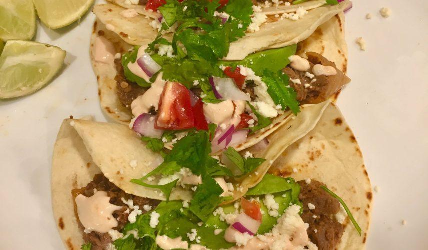 Crock-pot Beef Barbacoa Tacos