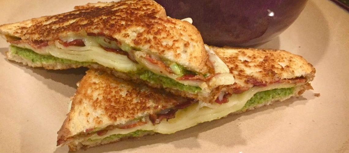 Pesto and Bacon Grilled Cheese