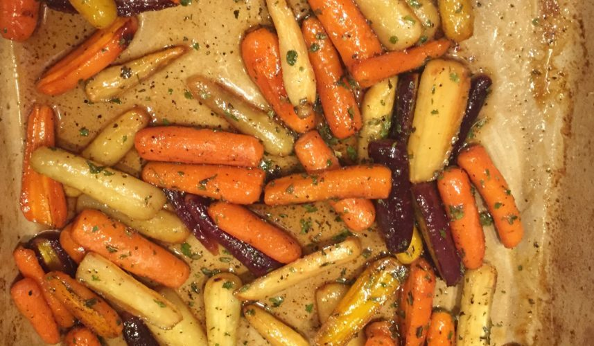Honey Butter Roasted Rainbow Carrots