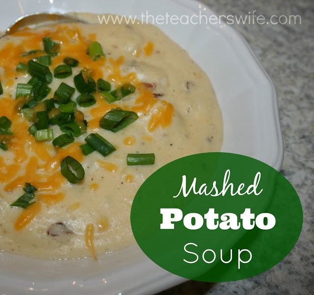 This mashed potato soup is so simple that it almost seems too good to be true!  You will want to add this to your arsenal after you taste it!