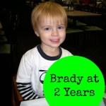 Brady at 2 years