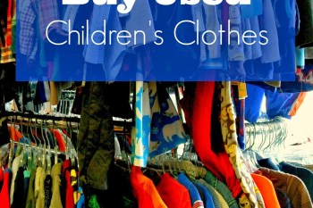 Ways We Save: Buy Used Children's Clothes